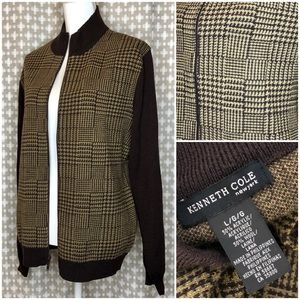 KENNETH COLE NEW YORK Men's Wool Brown Cardigan L